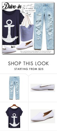 """""""SheIn 7/10"""" by fashion-pol ❤ liked on Polyvore featuring Forever 21, DateNight, drivein and summerdate"""