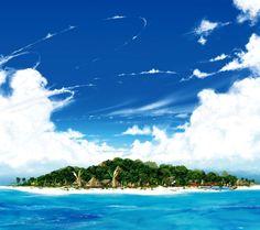 cool Beautiful Ocean Island Androidスマホ壁紙