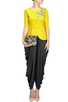 Dhoti Pants with Peplum top - Sonali Gupta - What to wear to an Indian Wedding