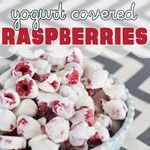 The happy gal shares a delicious healthy recipe for frozen yogurt covered raspberries.