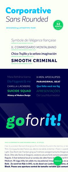 Corporative Sans Rounded - Corporative Sans Rounded is the rounded version of Corporative Sans. Its curved ...