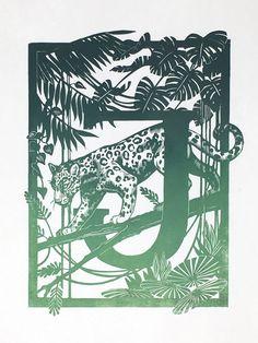 "Linocut ABC - ""J is for..."" - Karin Rytter Wood Engraving Tools, Animal Alphabet, Japanese Paper, Vinyl, Golden Age, Printmaking, Illustration, Black And White, Creative"