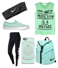 """A day with o2l"" by lana9837 ❤ liked on Polyvore featuring мода, NIKE, 5 Preview и Vans"
