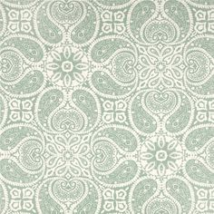 Tibi Spa Green Paisley Cotton Print Drapery Fabric by Premium Prints - SW49036 - Fabric By The Yard At Discount Prices