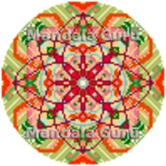 """Carina is from Canada and this is her personal Mandala Cross Stitch Design. She is a Taurus and loves summer. """"I instantly fell in love with my Mandala, can't wait to start stitching!"""" Curious what your Mandala will look like? Follow the link and chat with the Guru. Mandala Design, Cross Stitch Designs, Taurus, Stitching, Canada, Holiday Decor, Fall, Link, Summer"""