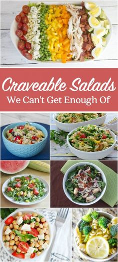 Craveable Salads We Can't Get Enough Of | These salad recipes look SOOO good!