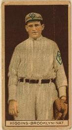 1912 Brown Backgrounds T207 #81 Bob Higgins Front