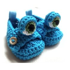 Blue Monster Baby Booty with Cute Monster eye on the Front ($17) found on Polyvore