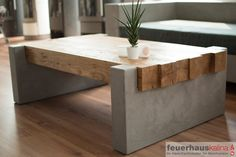 Concrete table, concrete, table, concrete coffee table, MainTisch - DIY living room - Do it yourself decoration - DIY Möbel/ Furniture - Concrete Furniture, Concrete Wood, Home Furniture, Business Furniture, Polished Concrete, Urban Furniture, Outdoor Furniture, Concrete Coffee Table, Diy Coffee Table