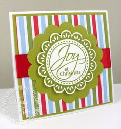 Stampin up perfect punches joy christmas