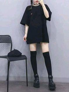 korea fashion Baddie outfit ideas is a gr - fashion Girls Winter Fashion, Black Girl Fashion, Fall Fashion Outfits, Edgy Outfits, Mode Outfits, Summer Outfits, Fashion Spring, Winter Outfits, Flannel Outfits
