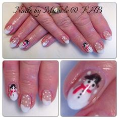 Cute Snowmen by finessebeauty from Nail Art Gallery