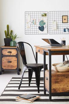 Rustic Country Desk. #office #desk #rustic #industrial