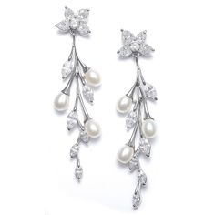 Seductive cascading earrings.  Bride or bridesmaid.  www.bridalshoestyle.com