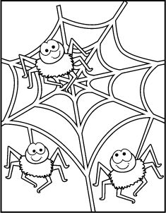 Lots of cute printable Halloween coloring pages on this site...