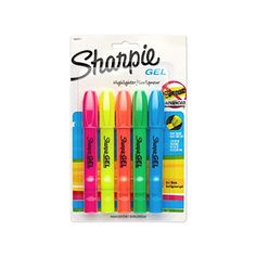 Sharpie 1803277 Accent Gel Highlighter, Assorted Colors, 5-Pack Sharpie http://www.amazon.com/dp/B005DEW394/ref=cm_sw_r_pi_dp_xWaYvb0RJJ9D8