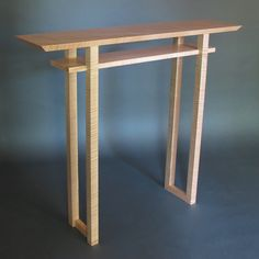 Narrow Altar Table tall console table small side table wood entry