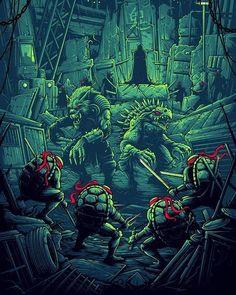 Teenage Mutant Ninja Turtles by Dan Mumford - Home of the Alternative Movie Poster -AMP- Ninja Turtles Art, Teenage Mutant Ninja Turtles, Comic Books Art, Comic Art, Dan Mumford, Alternative Movie Posters, Cultura Pop, Tmnt, Martial
