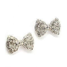 $26 Style Tryst Crystal Bow Studs