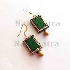 Shop Terracotta Green Tiny Stud Online | Best collection of Earrings