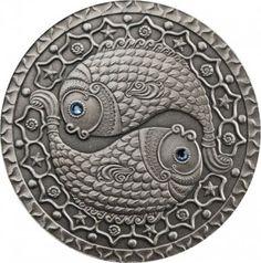 Srebrna Moneta - Ryby, 20 rubli, Seria: Znaki zodiaku