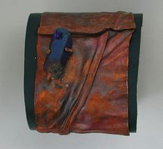 Patina Fold Formed Leather Lined Copper by SilverSeahorseDesign, $40.00