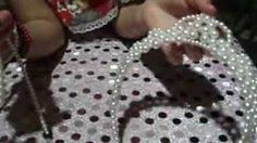 laço para tiaras em perolas - YouTube