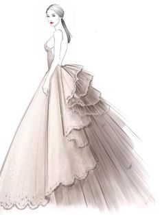 39 Best Ideas For Fashion Drawing Watercolor Dress Sketches Fashion Drawing Dresses, Fashion Illustration Dresses, Dress Illustration, Fashion Illustrations, Dress Fashion, Drawing Fashion, Design Illustrations, Medical Illustration, Watercolor Dress