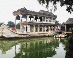 """Check out my art piece """"The Marble Boat - Summer Palace - Beijing China"""" on crated.com #art #photography #boat #china"""