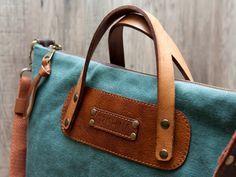 """Grishina Elena: Сумка """"Весна"""" зеленая canvas and leather bag, green bag #canvasbag #greenbag #leatherbag #canvas #grishinastudio"""