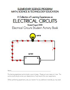 Here's a terrific packet of activities for elementary students on electrical… Stem Science, Science Fair, Science And Nature, Book Activities, Teaching Resources, Stem Projects For Kids, Teacher's Guide, Student Guide, Light Project