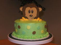 Cakes by Becky: Monkey Baby Shower Cake