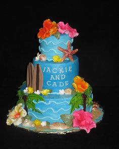Luau bridal shower by christie's cakes, via Flickr