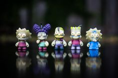 Kidrobot X The Simpsons Treehouse of Horror set. Made from glow in the dark plastic! $50
