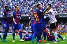 """Messi provoca torcedores do Valencia após tensão e agressão: """"Filhos da p..."""" #globoesporte"""