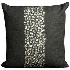 Mina Victory Luminescence Black 20-inch Throw Pillow | Overstock.com Shopping - Great Deals on Nourison Throw Pillows