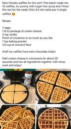 Low Carb Breakfast Recipes – The Keto Diet Recipe Cafe Ketogenic Recipes, Low Carb Recipes, Diet Recipes, Cooking Recipes, Keto Foods, Keto Postres, Desserts Keto, Comida Keto, Keto Waffle