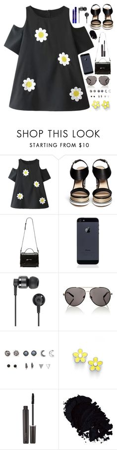 """""""Do you want me or do you want me dead?"""" by skittlebum ❤ liked on Polyvore featuring Nicholas Kirkwood, Mackage, Nixon, Lipsy, With Love From CA, Marc by Marc Jacobs, Laura Mercier and By Terry"""