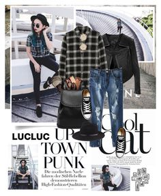 """""""Lucluc"""" by dora04 ❤ liked on Polyvore featuring Linea Pelle, Madewell, Converse, rag & bone and Miu Miu"""