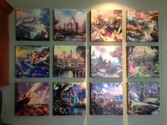 My Thomas Kinkade Disney wall