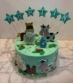 Tarta buttercream granja. Cupcakes, Birthday Cake, Desserts, Food, Fondant Cakes, Lolly Cake, Candy Stations, Cookies, One Year Birthday