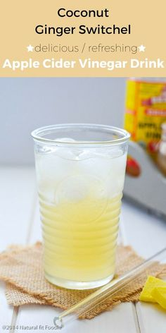Coconut Ginger Switchel Recipe - This Coconut Ginger Switchel is the perfect healthy electrolyte. It has a ton of health benefits and is a great pick me up on a hot day!