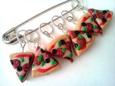 Stitch markers  PIZZERIA  Stitch Markers / Knitting by scary2merry, $14.00
