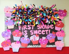 Doodle Bugs Teaching {first grade rocks!}: Five for Friday {Linky Party. Candy Bulletin Boards, February Bulletin Boards, Thanksgiving Bulletin Boards, Valentines Day Bulletin Board, Kindergarten Bulletin Boards, Halloween Bulletin Boards, Winter Bulletin Boards, Bulletin Board Display, Classroom Bulletin Boards