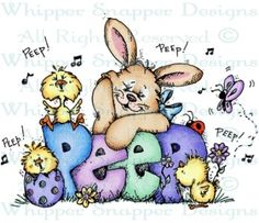 Peep - Easter - Holidays - Rubber Stamps - Shop
