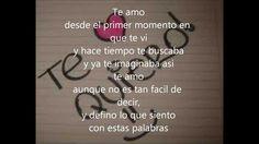 Te amo -Daniel Santacruz (letra)