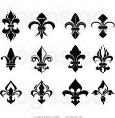 Royalty free clipart illustration of fleur de lis collage logo. This Fleur De Lis stock logo image was designed and digitally rendered by Vector Tradition SM. French Symbols, Tattoo Fleur, Texture Web, Lesage, Symbol Design, Wedding Labels, Collage, Symbolic Tattoos, Tattoos With Meaning