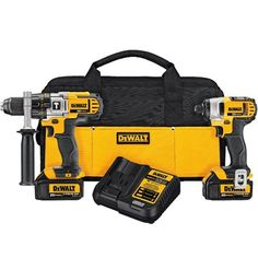 DEWALT 2-Tool 20-Volt MAX* Lithium Hammer Drill and Impact Driver Combo Kit with Soft Case