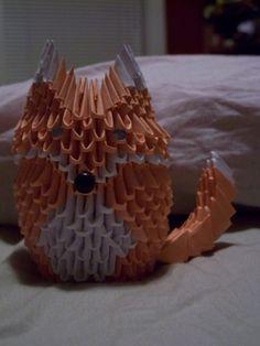 3D modular origami fox by RazorCrow.deviantart.com on @DeviantArt