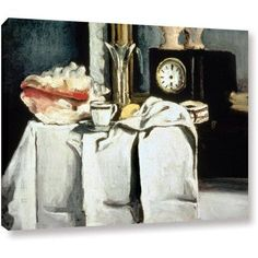 Paul Cezanne The Black Marble Clock Gallery-wrapped Canvas Art, Size: 18 x 24